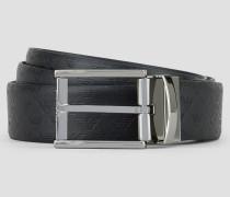 Wendegürtel aus Bedrucktem Leder und Glattleder