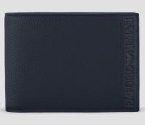 Granat-portemonnaie mit Logo auf Der Seite