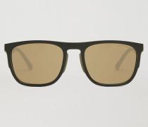 Rechteckige Sonnenbrille aus Gummi & Aluminium