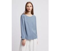 Bluse aus Polyester mit Diagonaler Passe