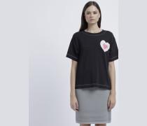 Oversize-t-shirt aus Jersey mit Herzdruck
