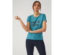T-shirt aus Jersey mit Logo in Paillettendekor