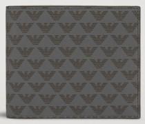 Bifold-portemonnaie Aus Leder Und Pcv