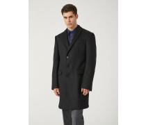 Einreihiger Mantel Aus Schurwolle Mit Moderner Passform