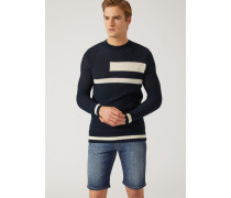 Pullover Aus Leichtem Baumwollstrick