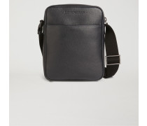Crossbody Bag Aus Genarbtem Leder Mit Logoprägung