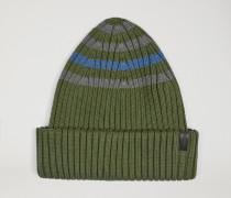 Mütze Aus Gestreiftem Baumwollstrick