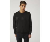 Sweatshirt Aus Baumwolle Mit Applikationen