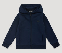 Kapuzensweatshirt mit Reißverschluss aus Baumwollfleece