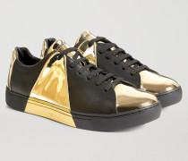 Sneaker aus Leder mit Spiegelprint