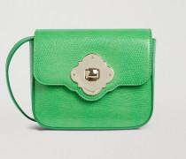 Mini-crossbody Bag Mit Eidechsenprägung