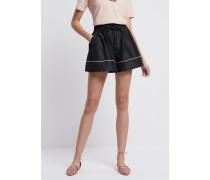 Shorts aus Techno-stoff mit Kontrastierenden Paspeln