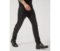 Jeans J00 aus 10.5 Oz Denim mit Dekorativen Nieten