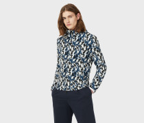 Blouson Aus Jacquardstrick In Camouflage-muster