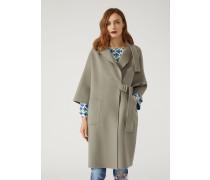 Mantel Aus Zweiseitigem Kaschmir