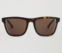 Rechteckige Lens Transparency Sonnenbrille mit Offen-kreis-struktur
