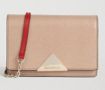 Crossbody Bag aus Leder mit Eidechsenprägung und Vachette-leder