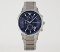 Chronograph aus Edelstahl mit Dreigliedrigem Armband