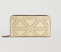 Brieftasche mit Umlaufendem Reissverschluss aus Kunstleder