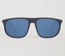 Sonnenbrille aus Azetat mit Farbigen Gläsern