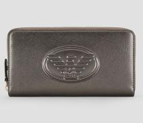 Langes Portemonnaie mit Relief-logo