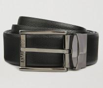 Wendegürtel aus Bedrucktem, Strukturiertem Leder und Glattleder