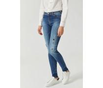 Super Skinny Jeans J18 aus Stone-washed-denim mit Rissen