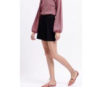 Shorts aus Krepp mit Bundfalten und Elastischem Taillenbundd Am Rücken