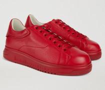 Sneaker Aus Leder Mit Hoher Sohle