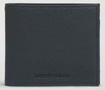 Bifold-portemonnaie Aus Gehämmertem Leder