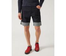 Shorts Aus Denim/baumwollstretch Mit Webkante