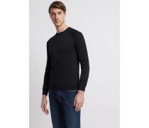 Jacquard-pullover aus Reiner Baumwolle