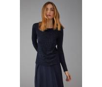 Pullover Aus Viskose Und Wolle Mit Animalier-jacquard-motiv