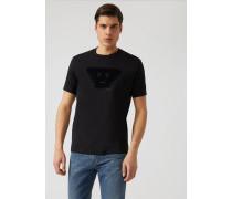 "T-shirt Der ""fancy""-kollektion mit Emoticons-patch"