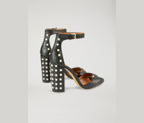 Sandalen Aus Leder Mit Kroko-prägung Und Applikationen
