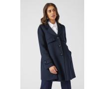Ausgestellter Mantel Aus Wolle Und Kaschmir