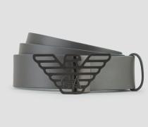 Gürtel aus Glattem Kalbsleder mit Logo-schließe