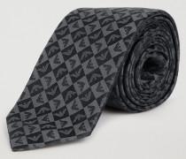 Krawatte aus Reiner Seide mit Logo-muster