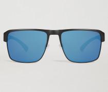Rechteckige Sonnenbrille Mit Nasensteg Und Bügeln Mit Logo.