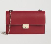 Mini Bag aus Gehämmertem Leder mit Kultigem Rechteckigem Verschluss