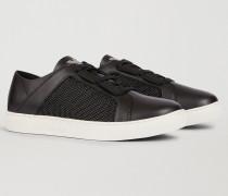 Sneaker Aus Leder Und Funktionsmaterial