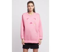 Sweatshirt aus Reinem Modal mit Motiv