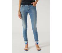 Skinny Jeans Aus Denim Mit Baumwollstretch