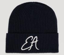 Mütze aus Rippstrick mit Aufgesticktem Ea-logo