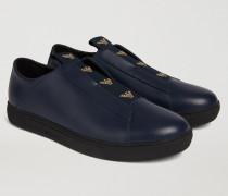 Slip-on Sneakers Aus Nappaleder Mit Kontrastierendem Logo