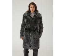 Mantel aus Pfirsichweichem Schaffell