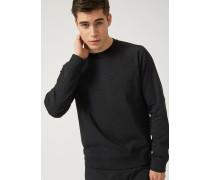 Sweatshirt mit Rundhalsausschnitt aus Baumwollstretch mit Relieflogo