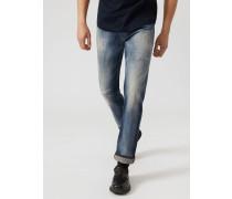 Slim Fit-jeans J45 aus Bequemem Baumwolltwill-denim mit Rissen und Aufhellungen