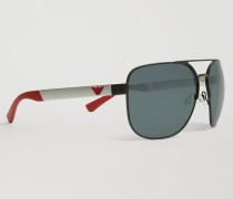Flieger-sonnenbrille aus Gummi & Aluminium