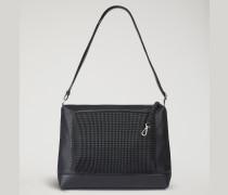 Crossbody Bag aus Leder mit Eidechsenprägung und Gaufrierter Textur mit Schlüsselanhänger